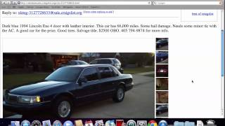 Craigslist Oklahoma City Used Cars For Sale - Best By Owner Options in 2012