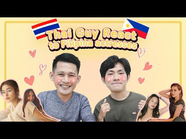 Thai Guy React to Filipina actresses | What Thai guys think of Filipina beauties?