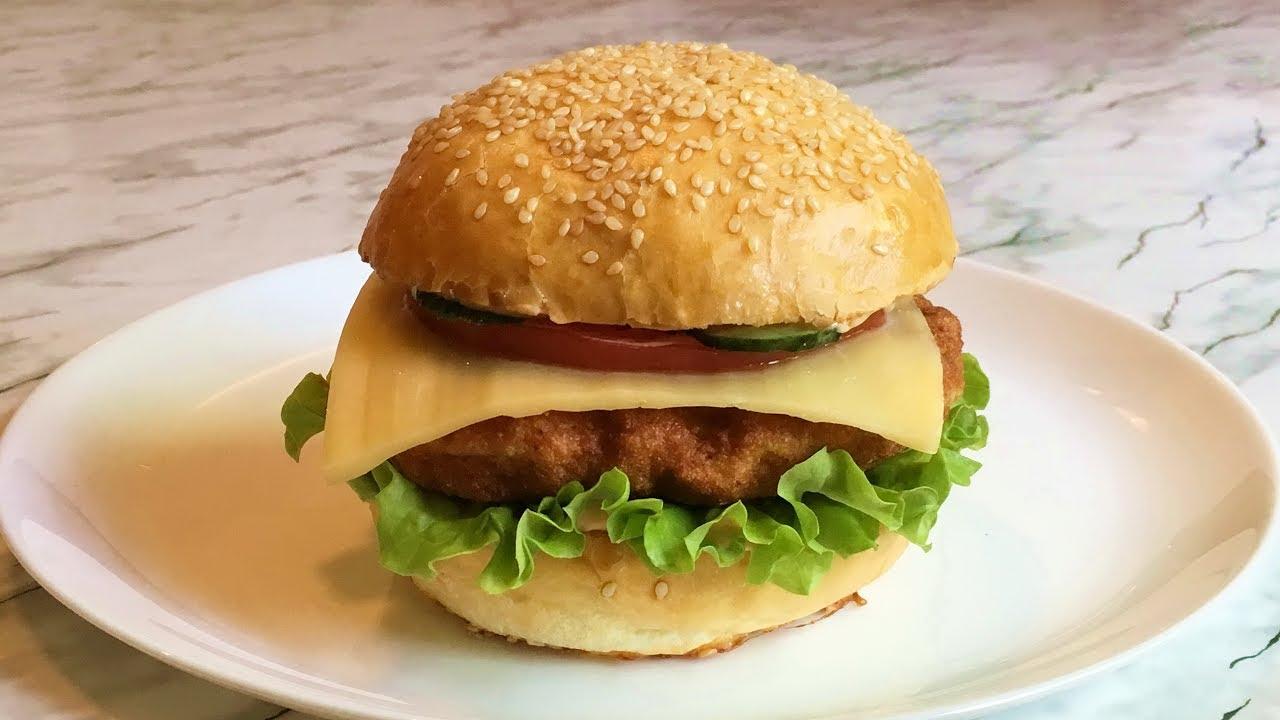 Чикенбургер / Бургер с Курицей (Фастфуд) / Chickenburger / Простой Рецепт (Быстро и Очень Вкусно)