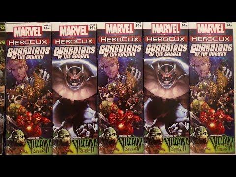 Heroclix Guardians Of The Galaxy   4 Brick Unboxing