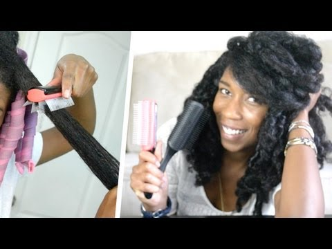 How to Detangle THICK Curly Natural Hair | How to Modify Denman Brush!
