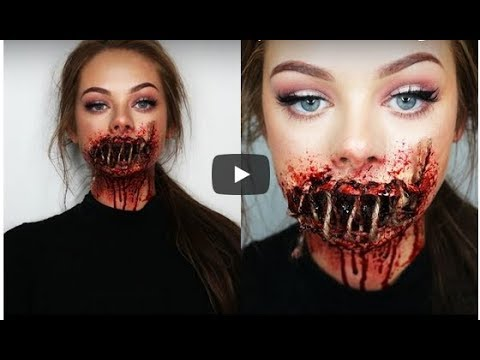 SEWED SHUT MOUTH - SFX Makeup Tutorial
