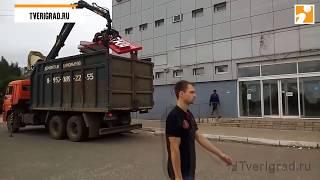 В Твери демонтировали вывески аптеки и магазина «4 сезона» Video