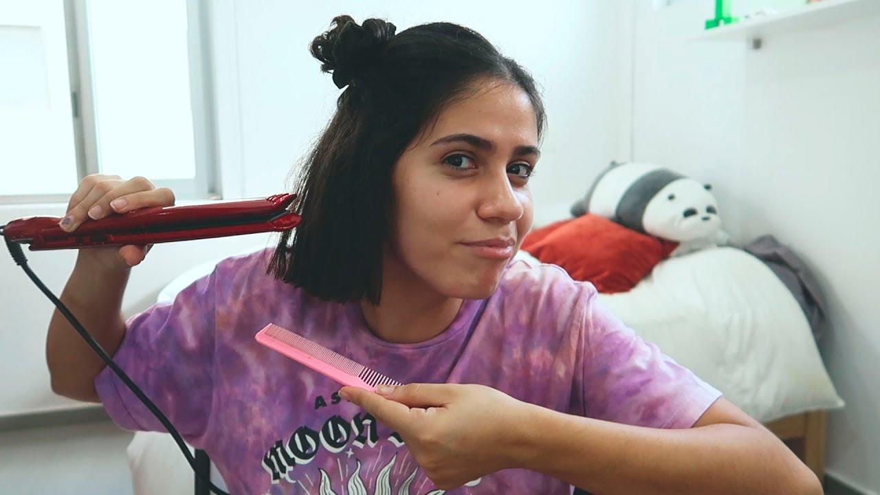 Me PLANCHO el cabello para una Cita con Don nadie