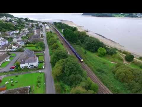 Ferryside Trainspotting By Drone