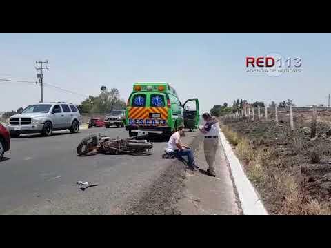 VIDEO Impacta contra motociclista y huye, en Zamora
