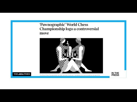 A bit 'pawnographic': World Chess Championships' new logo deemed too 'racy'