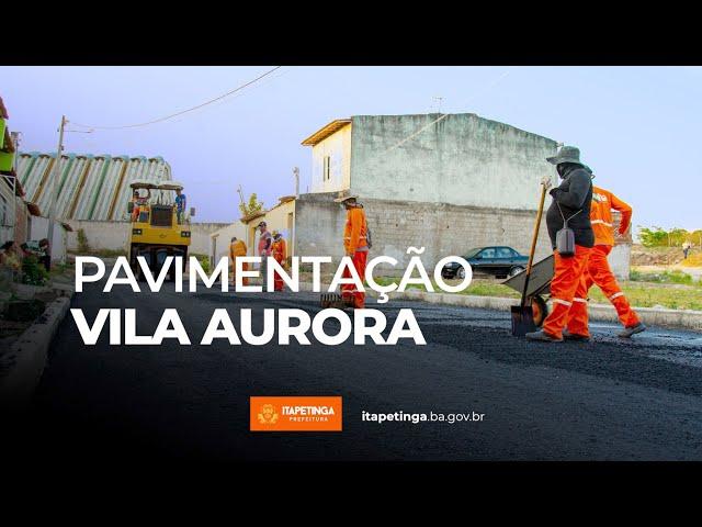 Pavimentação Vila Aurora