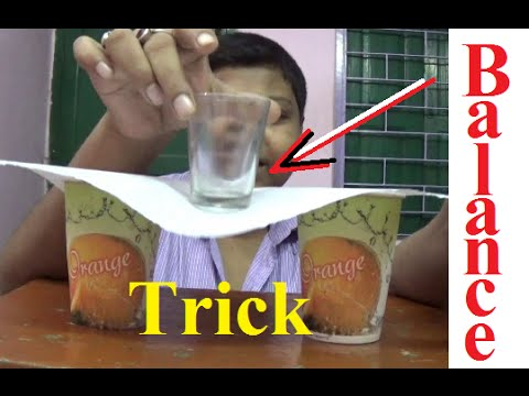 Balance glass on page - Science Trick on Hindi - YouTube