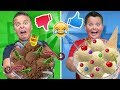 REAL FOOD vs ICE CREAM FOOD CHALLENGE!!🍦😂