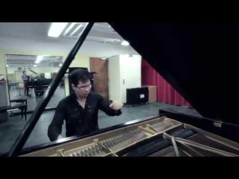 Aza Sydykov rehearsing before his Carnegie Hall Solo Recital