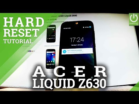 How to Hard Reset ACER Liquid Z630 - Delete Data / Format Android