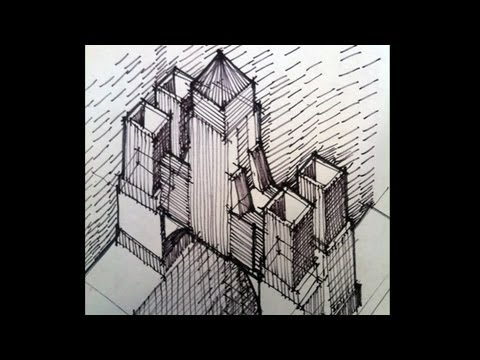 Architecture Design Drawing Sketch architectural hand sketching, design as you draw, bldg 1 - youtube