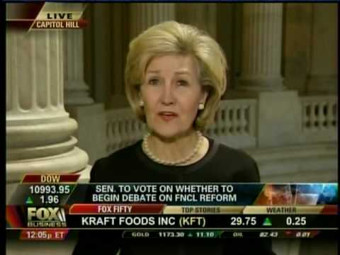 Kay Bailey Hutchison on Fox Business Discussing Financial Reform