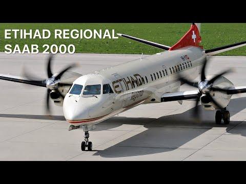 ▶ Darwin Airline/Etihad Regional Saab 2000 [HB-IYI] *FC Inter Milano* on Board at Innsbruck