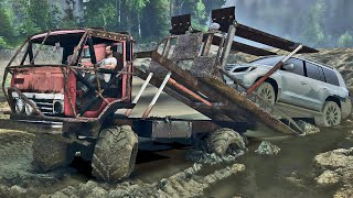 Guinchando Carro na Lama - Spin Tires