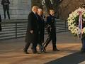 Trump, Pence lay wreath at Arlington cemetery