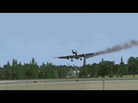 EMERCENCY LANDING, ENGINE ON FIRE - Thomson Boeing 757 Landing into Bristol Airport - FSX 2015
