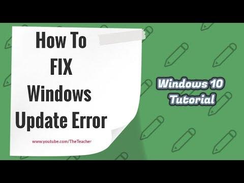 How to Fix Windows 10 Update Stuck Error at 0   Windows 10 Tutorial   The Teacher