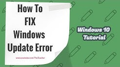 How to Fix Windows 10 Update Stuck Error at 0 | Windows 10 Tutorial | The Teacher