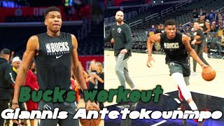 Milwaukee Bucks Giannis Antetokounmpo workout * crazy work ethic *