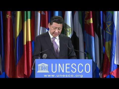 President of China Xi Jinping at UNESCO