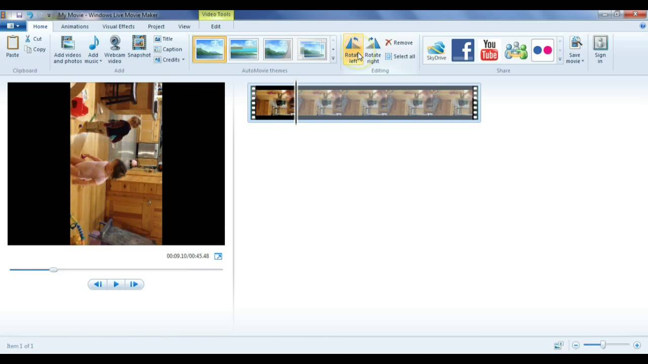 How to rotate a video 180 or 90 degrees using windows movie maker how to rotate a video 180 or 90 degrees using windows movie maker ccuart Images
