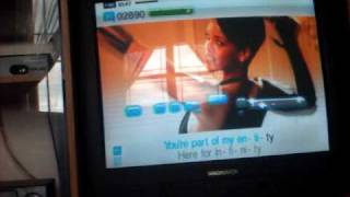 Me playing Singstar Pop VOL.2- Umbrella by Rihanna