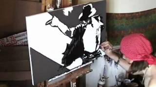 MICHAEL JACKSON Tribute Speed Painting Art - Stephen Quick