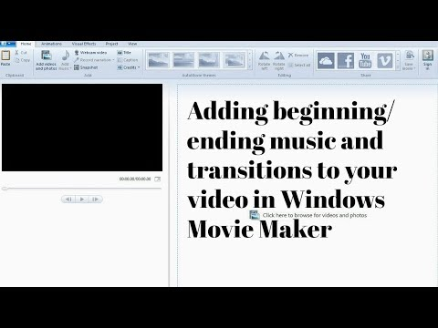 Adding music and transitions to your  in Windows Movie Maker!