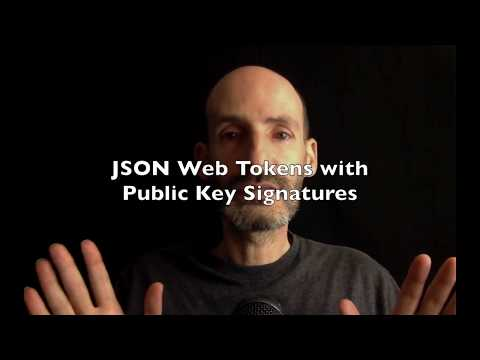 JSON Web Tokens with Public Key Signatures