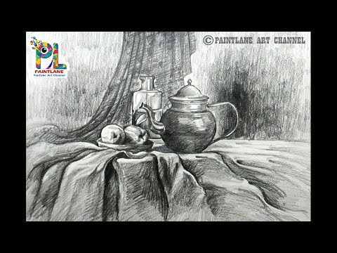 How to draw Still Life Art with Simple Pencil Shading | Step by Step Pencil Drawing