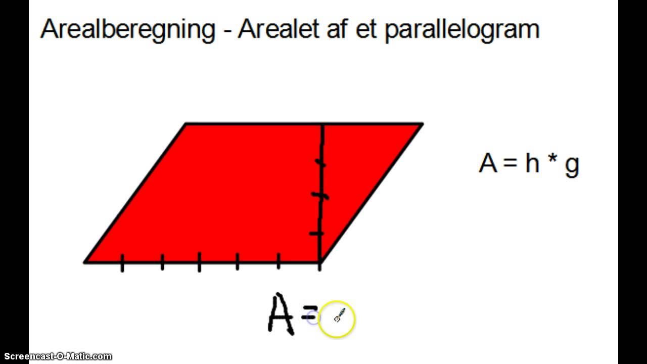 Arealberegning - Areal af et parallelogram