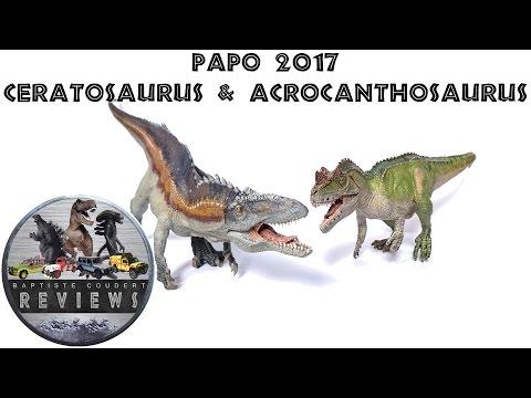 Video Review: 2017 Papo Dinosaur Ceratosaurus & Acrocanthosaurus