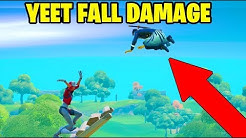 YEET AN OPPENENT AND DEAL FALL DAMAGE! (FORTNITE CHAPTER 2 SEASON 1 UNFUSED CHALLENGE!)