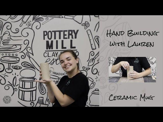 Hand Built Textured Ceramic Slab Mug