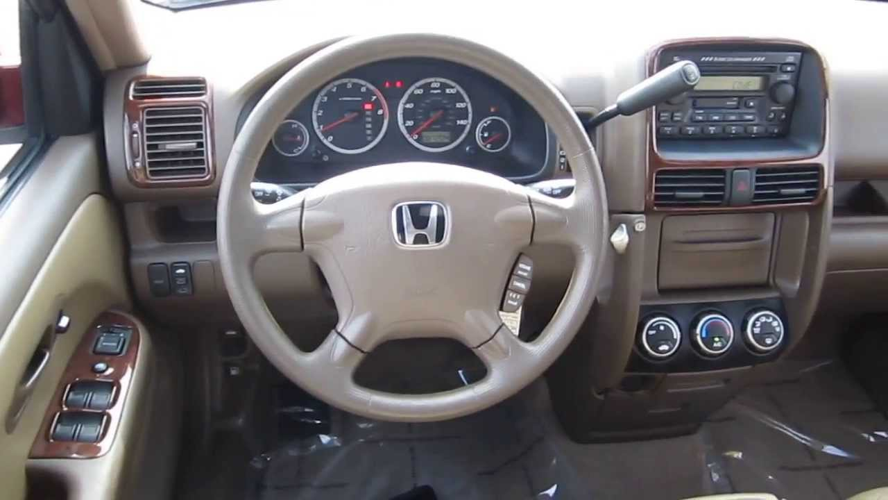 2003 White Honda Accord >> 2003 Honda CR-V, Red - STOCK# B2249 - Interior - YouTube