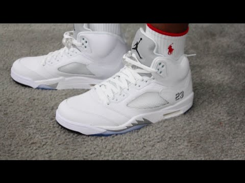 best service 0d2fa 9a18d Retro 5 Metallic Silver Air Jordan Retail Release Authentic Sneaker Review