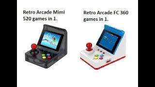 """(New) RetroArcade Mini and RetroArcade FC 3"""" Screen the difference."""