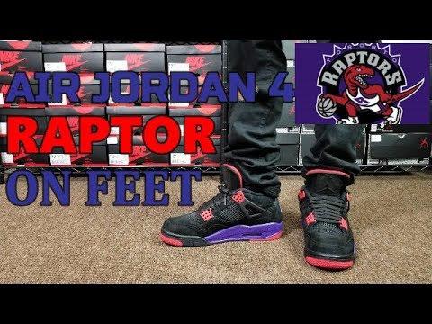 d00630b196e41d AIR JORDAN 4 RAPTORS REVIEW   ON FEET - YouTube