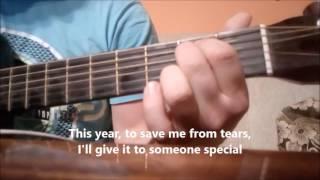 Wham! - Last Christmas (acoustic guitar cover, karaoke)