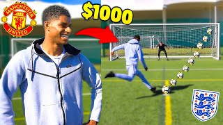 If Marcus Rashford Wins Soccer Challenge I Lose $1000
