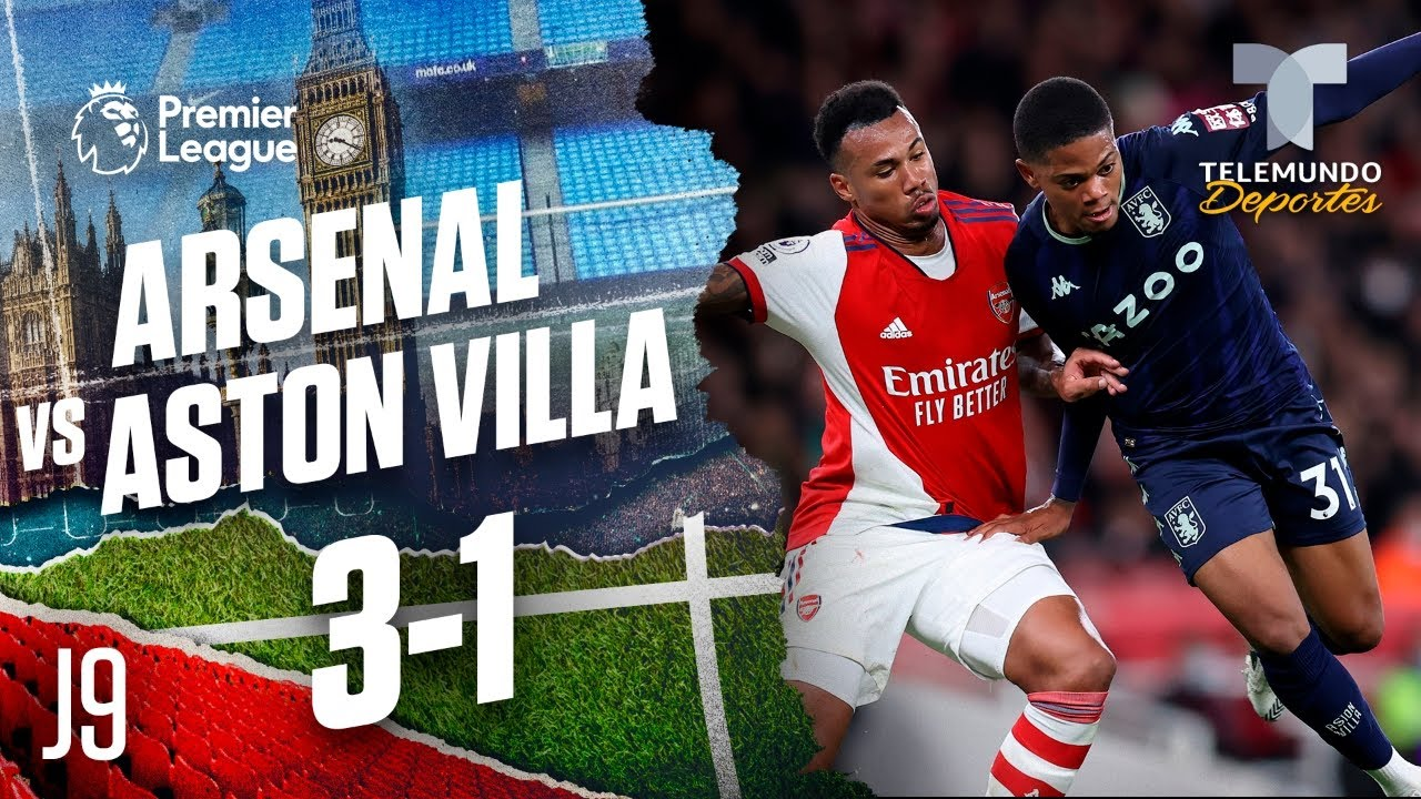 Arsenal beats Aston Villa 3-1 in Premier League
