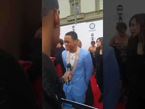 Jaquel Pitts Interviews Michael Rainey Jr (Power) At The 49th Annual NAACP Image Awards