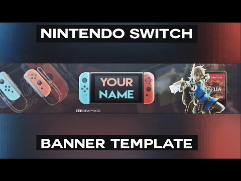 Free Nintendo Switch Banner Template Youtube