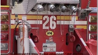 """Gotham City Fire Department"" FDNY responding BatFireTruck New York Engine 26 2014 HD ©"