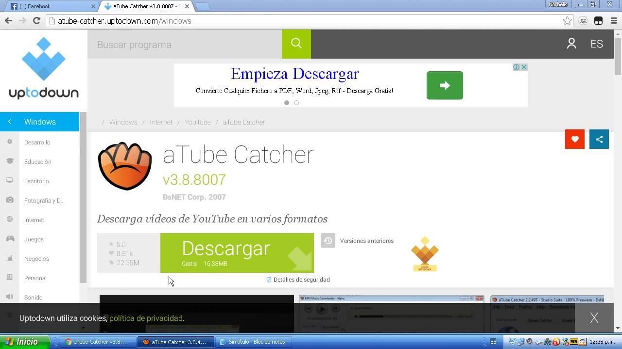Como Descargar Atube Catcher Gratis Y Rapido - YouTube
