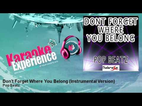Pop Beatz - Don't Forget Where You Belong (Instrumental Version)