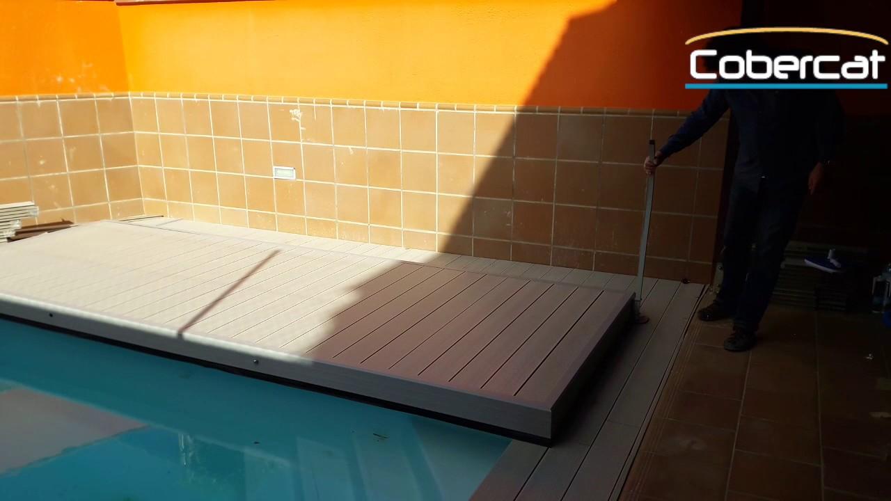 Cubierta plana piscina youtube for Cubierta piscina transitable