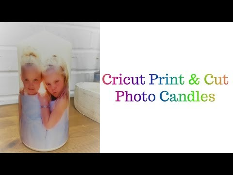 Cricut Photo Candle with water slide decal paper
